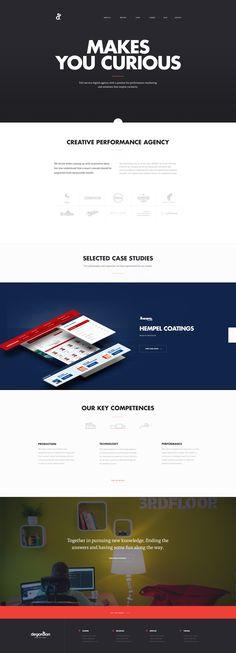 New agency website | Hrvoje Grubisic | Degordian | dribbble