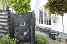 See thru trellises for creating spaces in the yard.