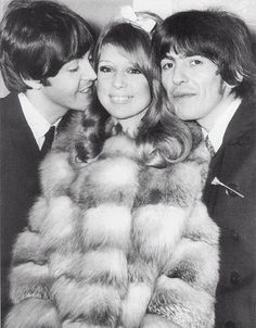 Patti Boyd & George Harrison's (Paul McCartney left)1966 wedding.