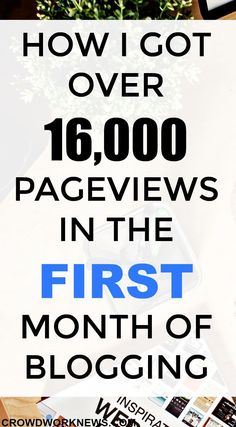 How I Got over 16,000 Page Views in the First Month of Blogging