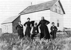 Metis family, 1800s, names and location unknown. ['Could this possibly be near Batoche? JE]