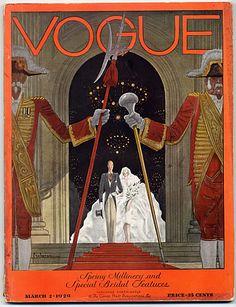 Vogue USA 1929 March 15th Georges Lepape Vintage high fashion magazine ...