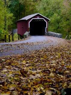 Covered bridge in Lancaster County's Central Park.  Lancaster, PA.