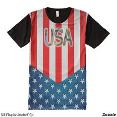 US Flag Men's American Apparel All-Over Printed Panel T-Shirt | To SAVE a lot just enter the Discount Code at checkout! >>> It's right under the menu on each product page!