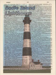 Bodie Island Lighthouse North Carolina by StorybookArtPrints