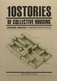 """10 STORIES OF COLLECTIVE HOUSING - """"For the first time ever, a+t research group has conducted an analysis of ten inspiring masterpieces through drawings and texts highlighting the most important contributions made by each of the architects towards developing desirable housing. The book recognizes masters such as Ignazio Gardella, Jean Renaudie, Ralph Erskine and Fumihiko Maki, among others..."""""""