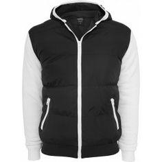 URBAN CLASSICS SWEAT NYLON BUBBLE ZIP BLACK WHITE HOODY Nylons, Urban Classics, Zip Hoodie, Nike Jacket, Rap, Bubbles, Ootd, Athletic, Sport