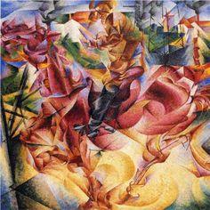 Umberto Boccioni - Elasticity - 1912 in Milan, oil