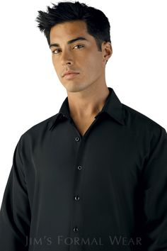 Microfiber Formal Shirt in Black by Jim's Formals. Available @ Between Friends! Tuxedo Accessories, Tuxedos, Formal Shirts, Groom And Groomsmen, Formal Wear, Parka, Actors, Suits, Friends