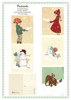 Festive Postcard Pack