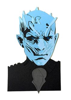 Game of Thrones White Walker Paperart Glicee A5 Print Colourful art print of the original papercut White walker ready to pin up, frame or give as a gift