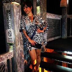Coisa mais linda a estampa desse vestido. Seda pura, by #brechó Camarim! #dress #estampa #seda