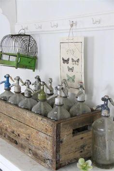 Beautiful antique bottles