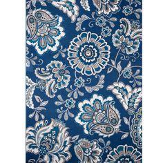 Violet Blue Floral Hand-Tufted Area Rug & Reviews | Joss & Main