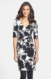 Adrianna Papell Floral Print Crepe Sheath Dress (Online Only)