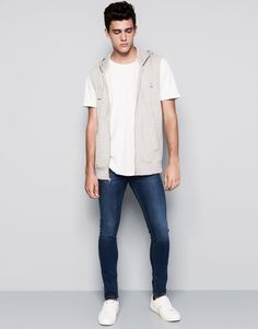 :JEANS SUPER SKINNY FIT PULL AND BEAR SKINNY JEANS MEN