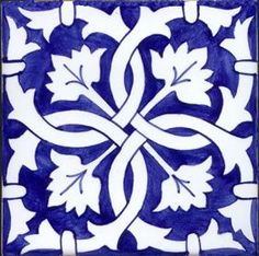 Blue and white Stencil Patterns, Stencil Designs, Tile Patterns, Tile Art, Mosaic Art, Stencils, Tiles For Sale, Creation Deco, Blue Pottery