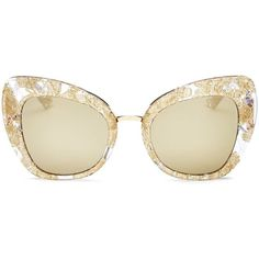 Dolce & Gabbana Mirrored Cat Eye Sunglasses, 51mm ($550) ❤ liked on Polyvore featuring accessories, eyewear, sunglasses, mirror glasses, cat eye mirrored sunglasses, mirrored sunglasses, cat-eye glasses and mirror sunglasses
