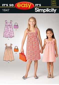 Simplicity Creative Group - It's So Easy Child's & Girl's Dress and Bag