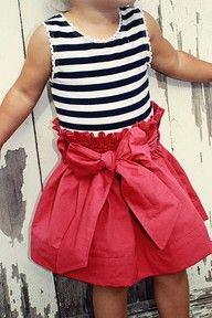 stripes and bow skirt