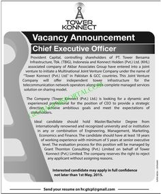 Chief Executive Officer Jobs in Tower Konnect Pvt Limited :http://globaljobsportal.com/jobs/chief-executive-officer-jobs-in-tower-konnect-pvt-limited/