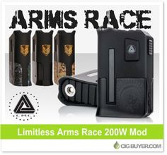 Limitless Arms Race 200W Box Mod – $58.99: http://www.cigbuyer.com/limitless-arms-race-200w-box-mod/ #ecigs #vaping #limitlessmodco #armsrace200w #boxmod #vapelife #vapedeals