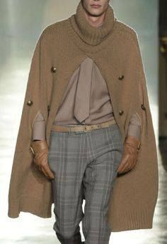 Galería: Ponchos tejidos para Hombres! ~ CTejidas [Crochet y Dos Agujas]