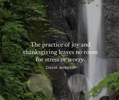 Signs Of Stress, Thanksgiving Blessings, Give Thanks, Law Of Attraction, No Worries, Waterfall, Prayers, Thankful, Joy
