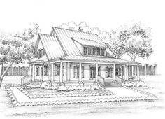Palmetto Bluff - Nichols looks farmhouse-ish Exterior Design, Interior And Exterior, Cracker House, Palmetto Bluff, Floors And More, Roof Lines, Cottage Exterior, Starter Home, Cabins And Cottages