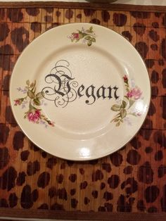 Check out this item in my Etsy shop https://www.etsy.com/listing/386041778/vegan-plate
