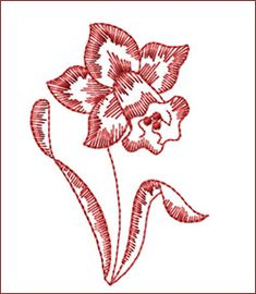 Flower redwork embroidery patterns | Free Redwork Machine Embroidery Designs - Free Embroidery Patterns