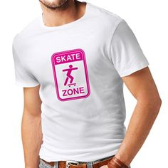 Looking for the perfect Lepni.Me Short Sleeve Skate Zone Funny Gift T-Shirt  (Xl, White Magenta)? Please click and view this most popular Lepni.