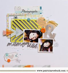 Scrapping with Die Cuts for Shimelle's Blog #scrapbook