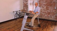 Focal Upright Furniture's Locus work station is designed to minimize the detrimental effects of working in a conventional seated position.