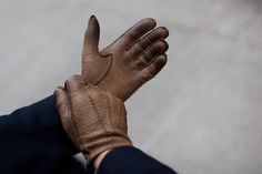 The Sartorialist Unconventional Gift Guide…. Pecari Gloves from Maison Fabre « The Sartorialist The Sartorialist, Leather Gloves, Leather Men, Brown Leather, Classic Leather, Best Gloves, Men's Gloves, Hand Gloves, Motorcycle Gloves