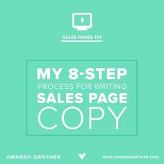 My Process for Writing Sales Copy that Converts - Amanda Genther Business Entrepreneur, Business Marketing, Email Marketing, Content Marketing, Internet Marketing, Business Tips, Online Business, Business Sales, Creative Business