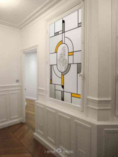 Doors Interior, Pattern Glass, Interior, Stained Glass Designs, Art Deco, Glass Painting, Glass Design, Home Decor, Window Glass Design