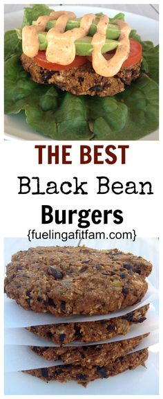 These are THE BEST Black Bean Burgers I have ever had! Easy, healthy and so delicious! These are THE BEST Black Bean Burgers I have ever had! Easy, healthy and so delicious! Veggie Dishes, Veggie Recipes, Whole Food Recipes, Cooking Recipes, Healthy Recipes, Easy Recipes, Low Carb Veggie Burger Recipe, Dinner Recipes, Vegan Burger Recipe Easy
