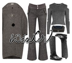 """""""winter gray"""" by katymill ❤ liked on Polyvore featuring Topshop, Balenciaga, Joe Browns, Chanel and MICHAEL Michael Kors"""