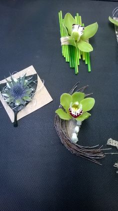 Level 2 Floristry Diploma, glued corsages
