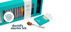 David's Starter Kit - A Starter Tea Kit Includes: One Tea From Every Category, Plus A Perfect Spoon And Our Exclusive Drawstring Filters Davids Tea, Do Perfect, My Cup Of Tea, Starter Kit, Hostess Gifts, Tea Time, Spoon, Tea Cups, Google