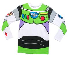 I Am Buzz Lightyear Toy Story Disney Movie Costume Adult Long Sleeve T-Shirt Tee