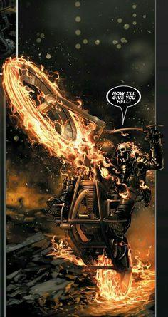 Ghost Rider, in highway to hell - Motoqueiro Fantasma, na estrada para o inferno Hq Marvel, Marvel Comics Art, Marvel Heroes, Captain Marvel, Ghost Rider Johnny Blaze, Ghost Rider Marvel, Character Drawing, Comic Character, Iron Fist