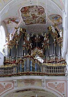 OchsenhausenIV/P/49 Deutschland, Baden-Württemberg Ehem. Abteikirche St. Georg Orgel erbaut von: Joseph Gabler, 1734 / 1753