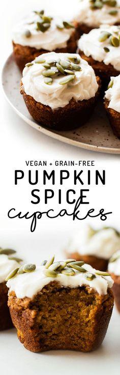 Pumpkin Spice Cupcakes (Vegan + Paleo)