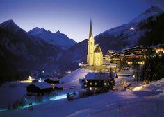 Winter Night in Heiligenblut, Austria