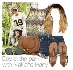 """Day at the park with Harry and Niall"" by style-with-one-direction ❤ liked on Polyvore featuring Topshop, rag & bone/JEAN, Billabong, Chloé, Ray-Ban, women's clothing, women, female, woman and misses"