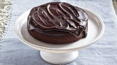 Dark chocolate olive oil cake from Good Food (Aus) by Karen Martini Pavlova, Cobbler, Sweets Recipes, Cake Recipes, Chocolate Olive Oil Cake, Pudding, Cakes And More, Chocolate Desserts, Cupcake Cakes
