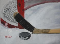 Oil Painting Sports Pictures, Photography Camera, Sports Art, Whimsical Art, Diy Painting, Painting Inspiration, Art For Kids, Hockey, Deco