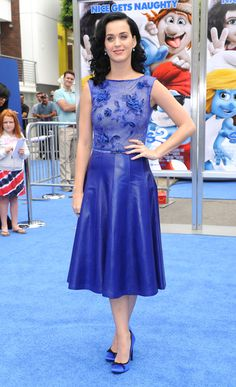 Katy Perry arriving at 'The Smurfs 2' premiere at the Regency Village Theater in Westwood, California - July 28, 2013 - Photo: Runway Manhattan/AFF